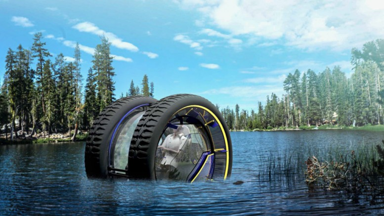 The perfect off-the-grid vehicle has two wheels and can drive underwater